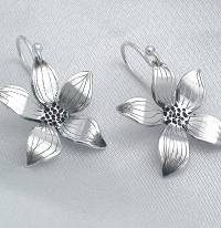 flower sterling silver drop earrings by dale virginia