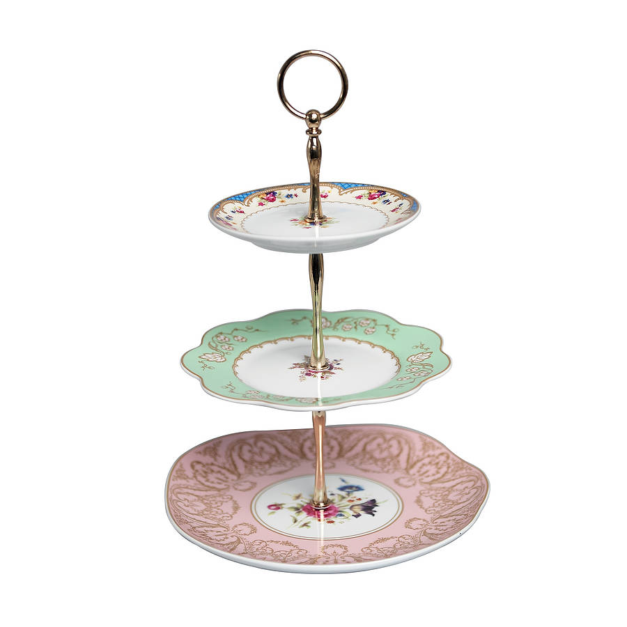 vintage style three tier cake stand by i love retro