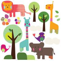 safari animal wall stickers by spin collective ...