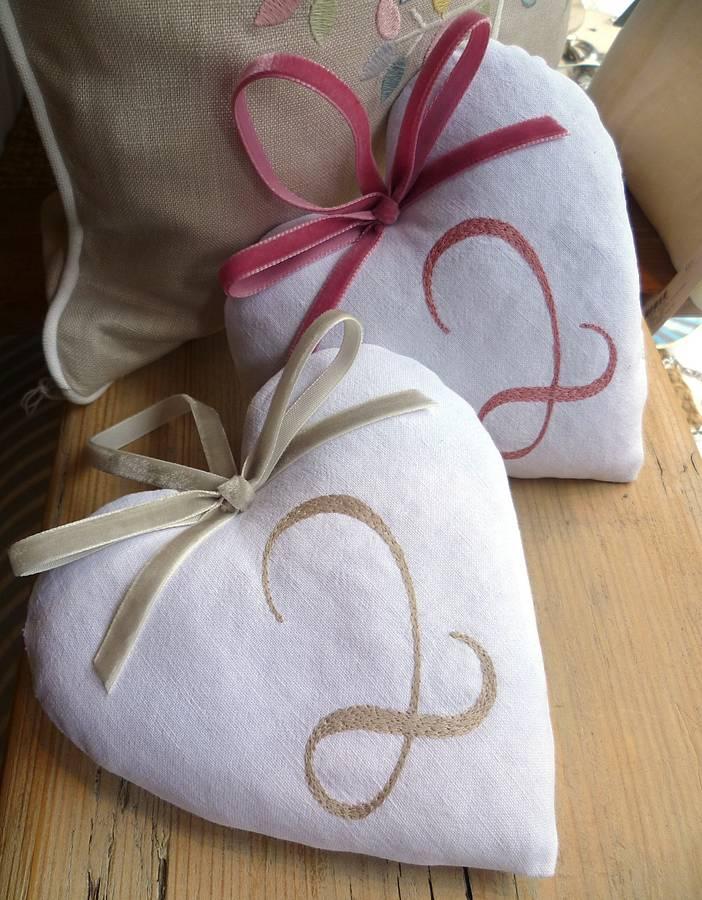 cotton 2nd wedding anniversary heart by follie by josie