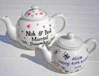 personalised wedding teapot by sparkle ceramics ...
