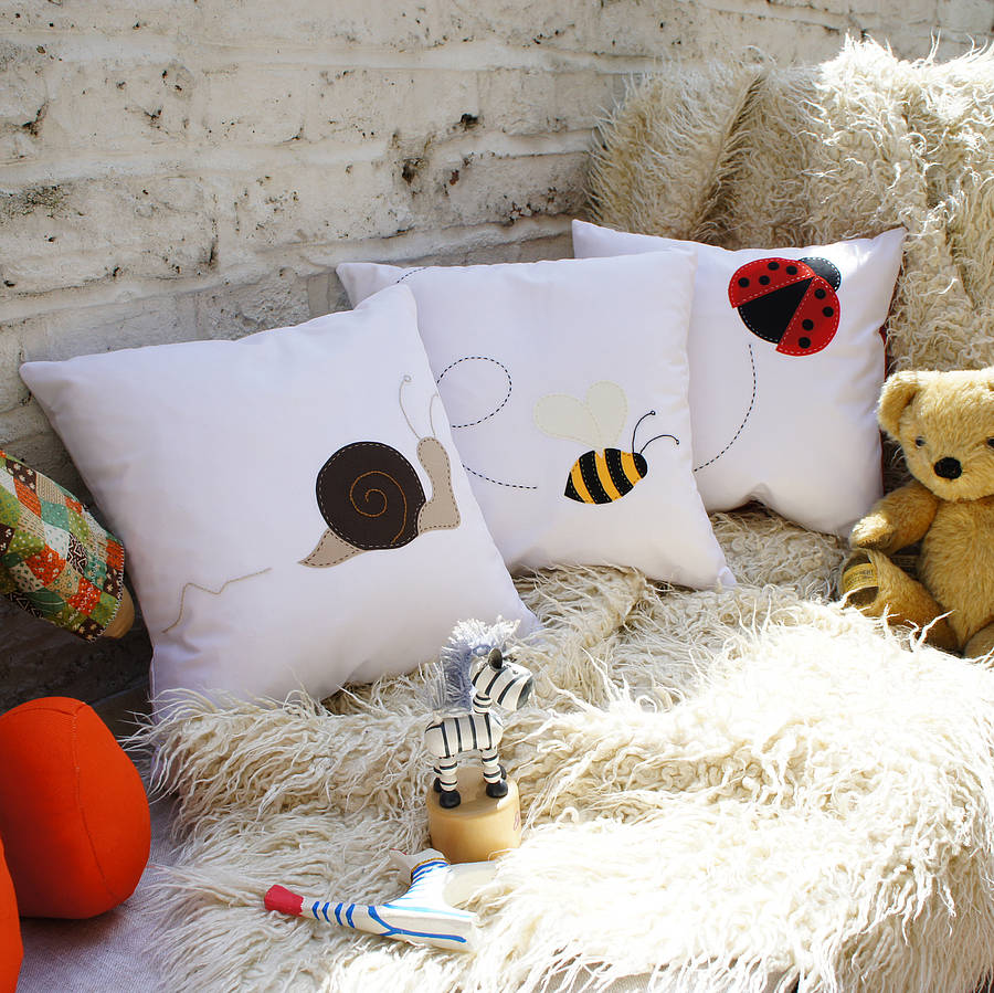 creature cushion cover by bean ink notonthehighstreetcom