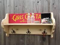vintage style schoolgirls hook shelf by woods vintage home ...