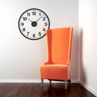 working clock wall sticker by spin collective ...