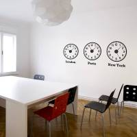 time zone clocks wall stickers + mechanisms by spin ...