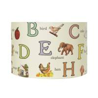 nursery alphabet lampshade by rosie's vintage lampshades ...