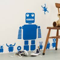 Robot Wall Decals - r Wall Decal