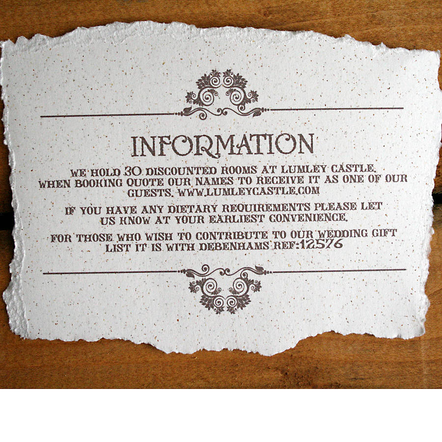 Wedding Invite Information Booklet Wedding Ideas For Old Hollywood