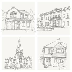sketch pencil drawing drawn drawings hand bespoke illustration letterfest easy sketches detailed draw plans notonthehighstreet system hands pinch zoom