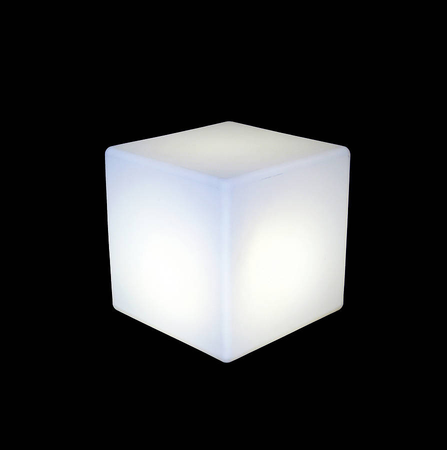 Ambient Table Lamp Cube Lit Table By One Foot Taller | Notonthehighstreet.com