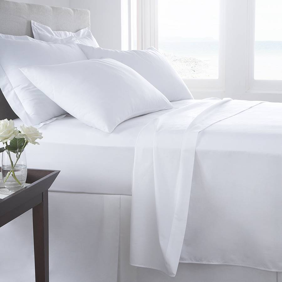 Vermont White Organic Cotton 200 Tc Percale Bed Linen By