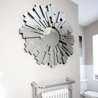 all glass round contemporary mirror by decorative mirrors ...