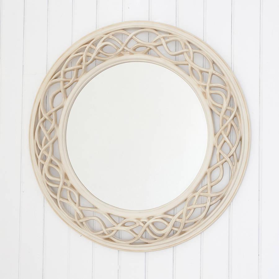 cream twisted round mirror by decorative mirrors online