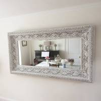 carved white 'shabby chic' mirror by decorative mirrors ...