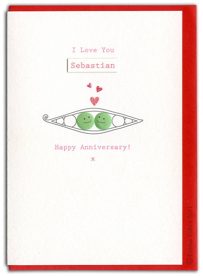 Valentines Peas In Pod Card By The Little Cloth Rabbit