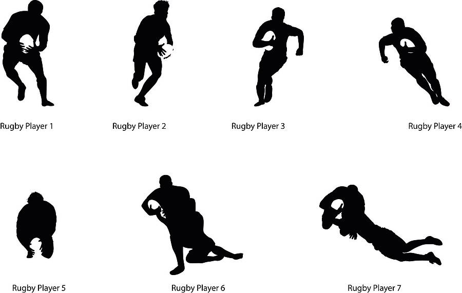 Turquoise Wallpaper For Girls Bedroom Rugby Player Silhouette Wall Sticker By Nutmeg