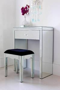 mini mirrored dressing table by out there interiors ...