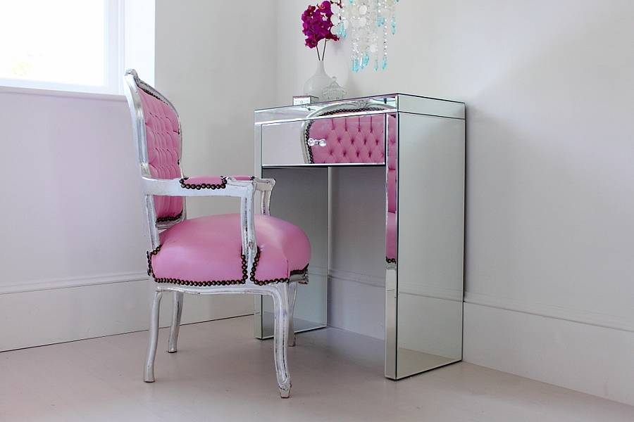 high chair space saver silver metal and wood dining chairs mini mirrored dressing table by out there interiors | notonthehighstreet.com