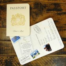 Passport Style Wedding Invitations Year Of Clean Water