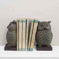 owl bookends by the contemporary home | notonthehighstreet.com