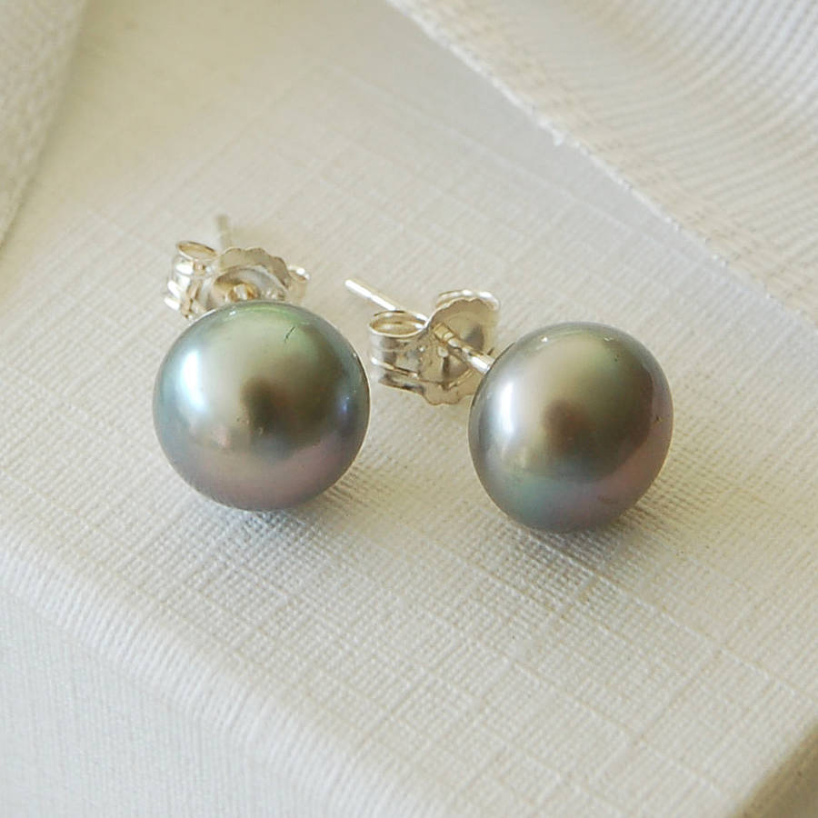 Real Pearl Earrings Studs White Pearl Ear Studs Extra