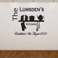 personalised kitchen wall sticker by almo wall art