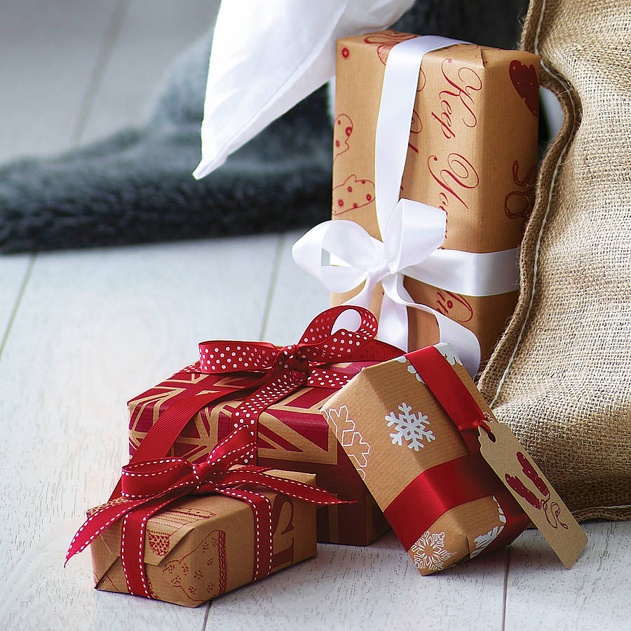 recycled brown christmas wrapping