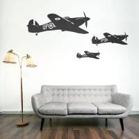 hawker hurricane vinyl wall sticker by oakdene designs ...