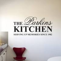 personalised 'kitchen' wall stickers by parkins interiors ...