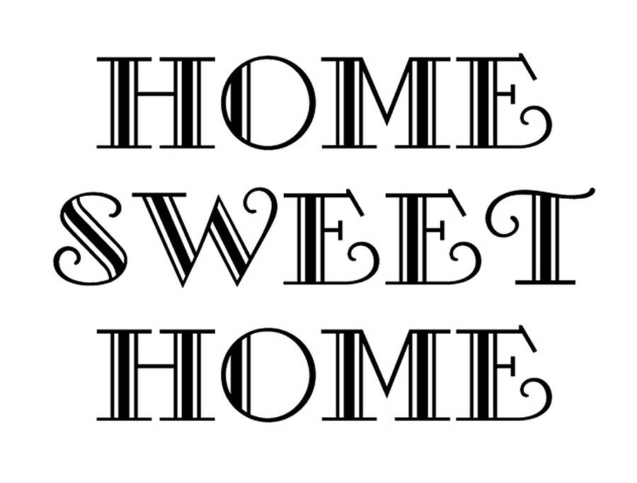 'home sweet home' wall sticker by nutmeg