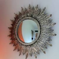 silver leaf mirror by the forest & co