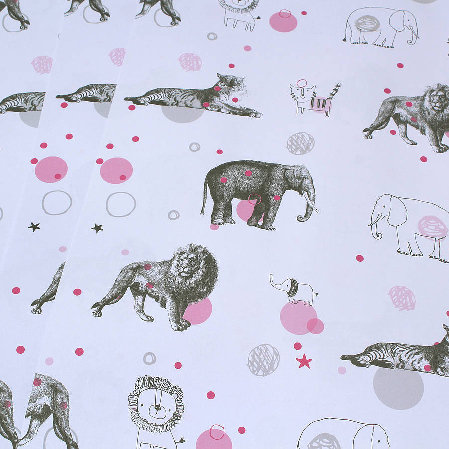 circus animal wrapping paper