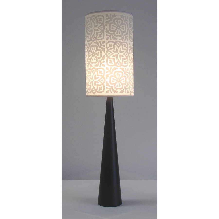 moroccan tile long drum lampshade by helen rawlinson