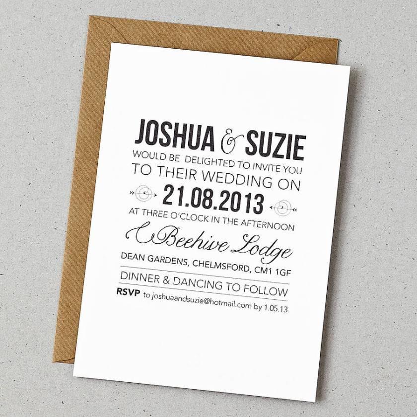Rustic Style Wedding Invitation
