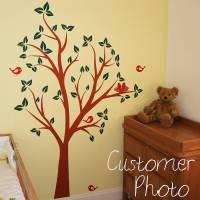 birds nests in tree wall sticker by parkins interiors ...