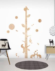 Wood print height chart wall stickers also by funky little darlings rh notonthehighstreet