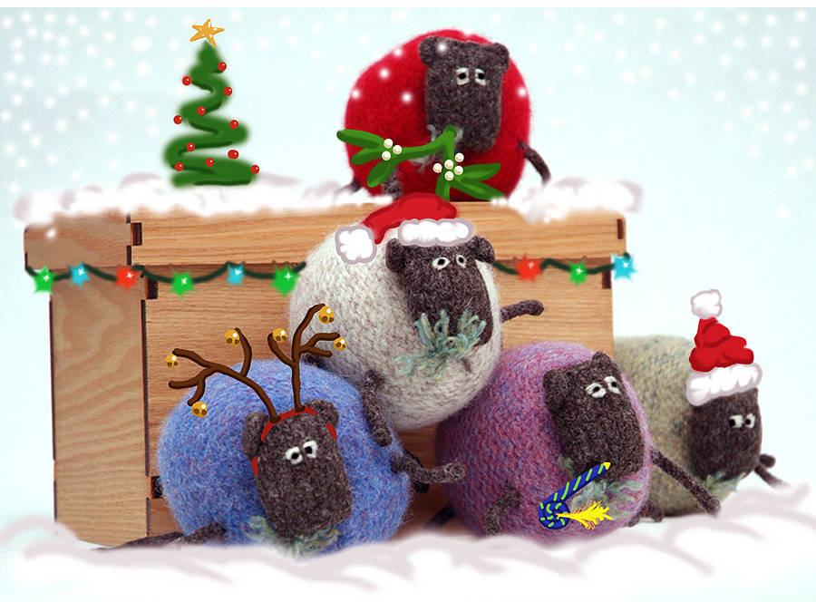 Sheep Christmas Card Pack By My Baboo