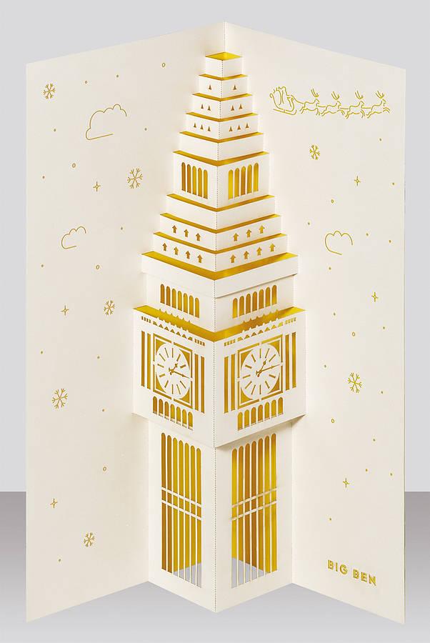Big Ben Pop Up Christmas Card By Paper Tango