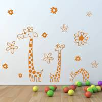 children's giraffe wall sticker set by oakdene designs ...