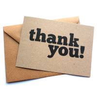 set of 12 thank you postcard note cards by dig the earth ...