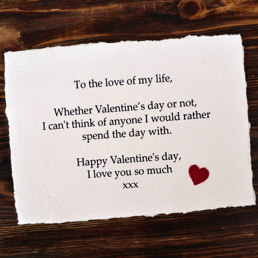 Personalised Message Valentines Gift By Jenny Arnott Cards