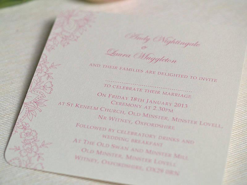 Vine Lace Wedding Invitations