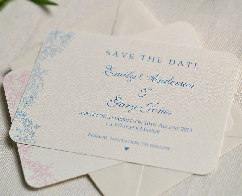 Save Date Cards Personalised