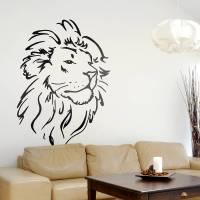 lion head wall sticker by oakdene designs ...
