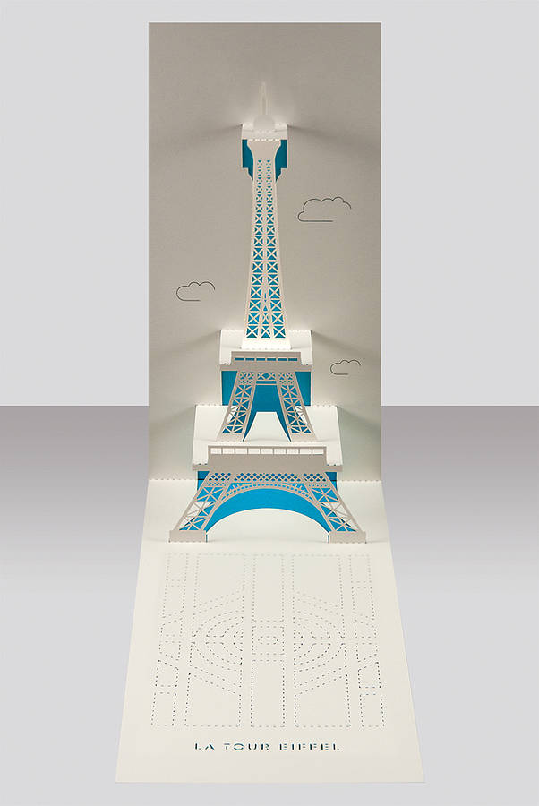 Eiffel Tower Paris Pop Up Card By Paper Tango