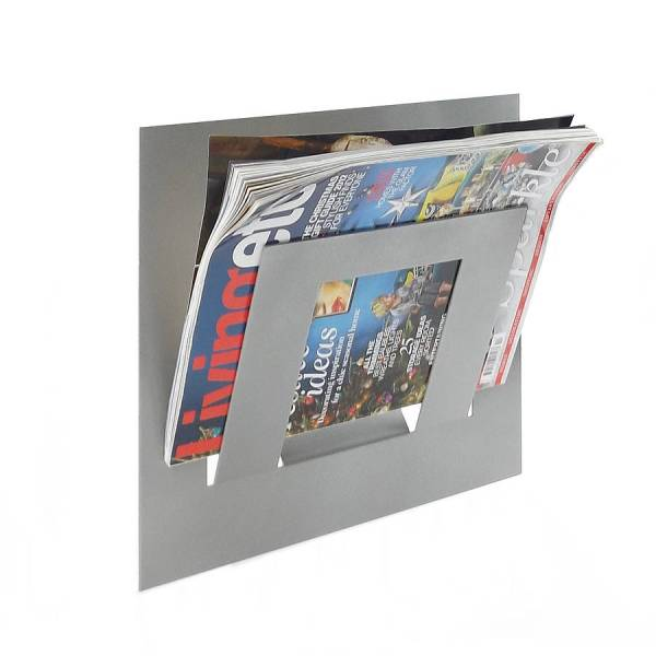 wall mounted single tier magazine rack by the metal house ...