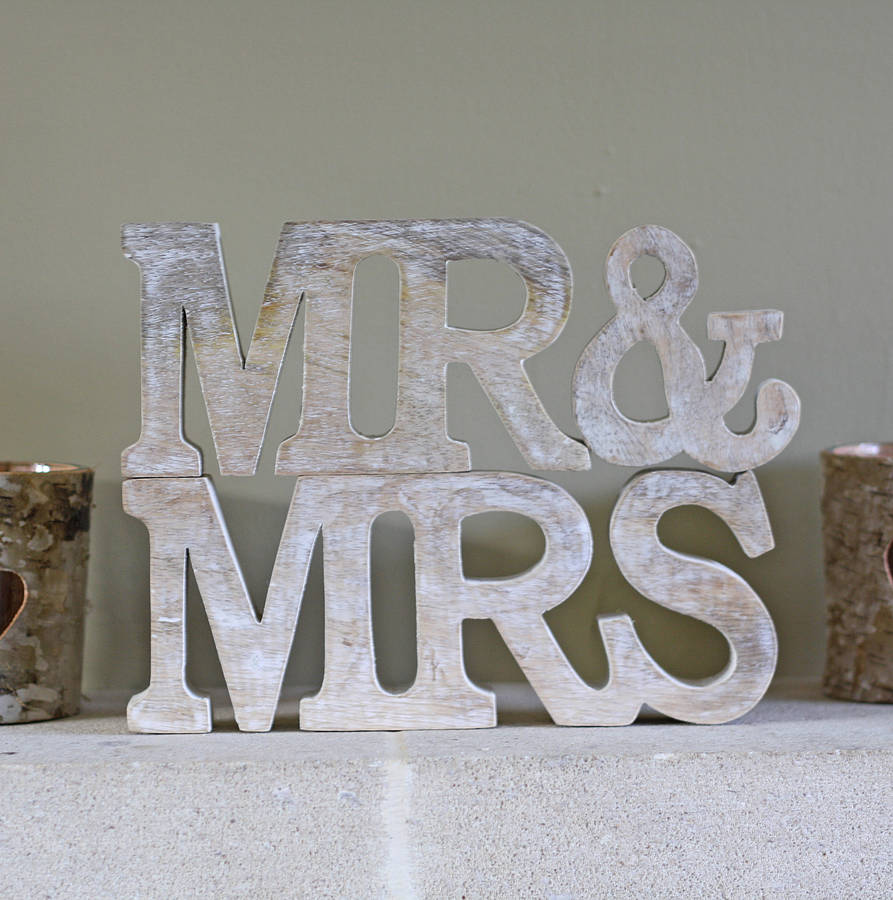 mr and mrs sign by the wedding of my dreams  notonthehighstreetcom