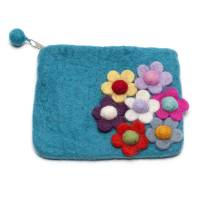 handmade felt flower design purse by felt so good