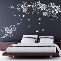 flower and butterfly vine wall stickers by parkins ...