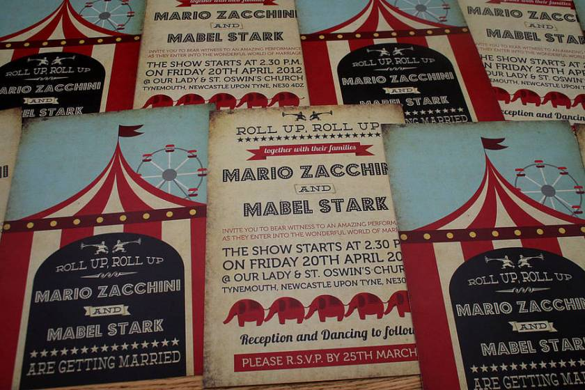 Circus Wedding Invitations All The Best Invitation In 2017